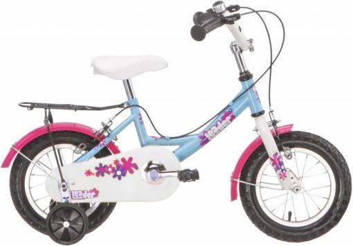 Leader Kid Girl - Kinderfiets - 14 Inch - Jongens - Blauw/Roze