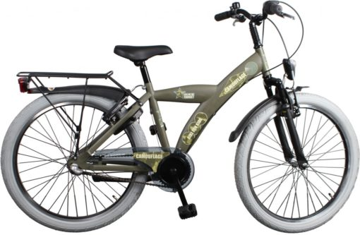 Bike Fun Camouflage - Kinderfiets - Jongens - Legergroen - 24 Inch
