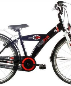 Bike Fun City - Kinderfiets - Jongens - Zwart - 24 Inch