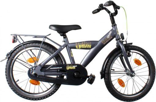 Bike Fun Urban Grunge - Kinderfiets - Jongens - Titanium - 18 Inch