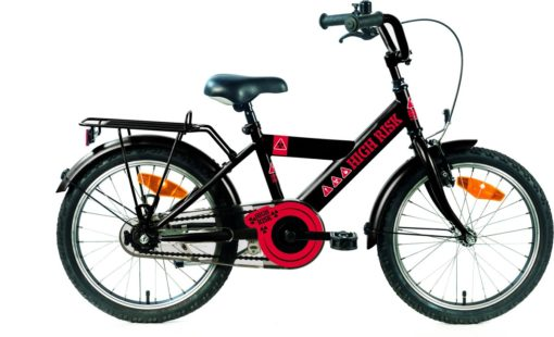 Kinderfiets Bike Fun High Risk jongens 12 inch zwart