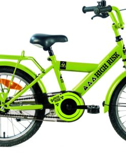 Kinderfiets Bike Fun High Risk jongens 18 inch groen