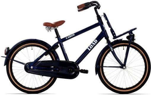 Kinderfiets Bike Fun Load jongens 24 inch nexus 3 donker blauw