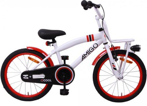 Amigo 2cool - Kinderfiets - Jongens - Wit - 18 Inch