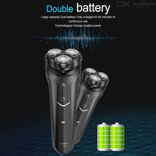 3D Roterende Elektrische Gezicht Scheerapparaat USB Oplaadbare Wasbaar Triple Hoofd Scheermes Met Baard Trimmer Voor Mannen