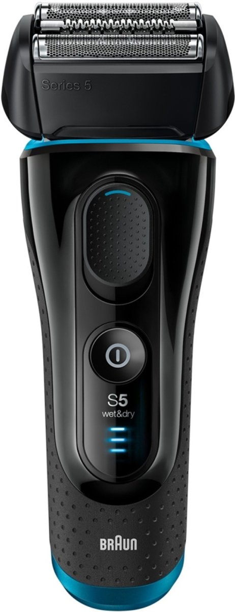 Braun Series 5 5140s Scheerapparaat met scheerblad Trimmer Zwart, Blauw