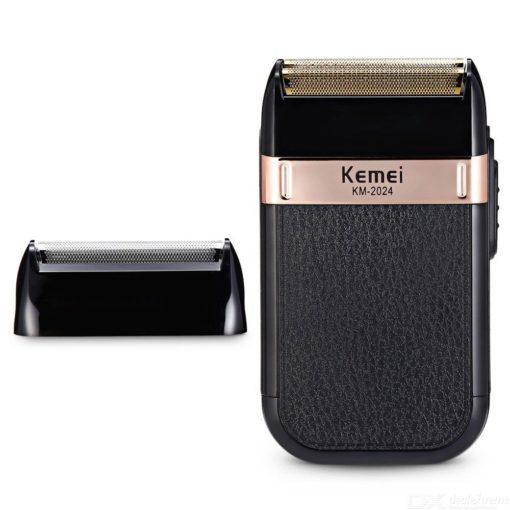 KM-2024 Elektrisch Scheerapparaat Full-body Waterdichte USB Elektronische Scheerapparaat W / 1PC Vervanging Netto
