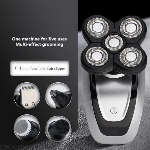 Mannen Elektrisch Scheerapparaat USB Oplaadbare Waterproof Kaal Hoofd Scheerapparaat Met Precisietrimmer Neustrimmer Gezicht Borstel