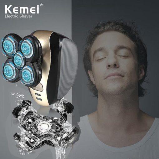 Kemei 1000 - Elektrisch 5-in-1 scheerapparaat met baardtrimmer - Neus trimmer - gezichtsreiniger voor mannen - Hoofd scheren - Vaderdag kados - Bodygroomers - Shaver 4D - 360 - Waterdicht