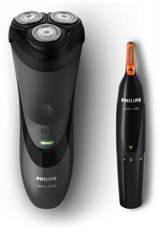 Philips SHAVER Series 3000 S3110/41 scheerapparaat Roterend scheerapparaat Zwart
