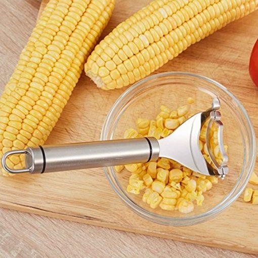 Roestvrijstalen Maïsstripper Cutter Scheerapparaat Dunschiller Kernel Dunschiller Remover Kookgereedschap Kitchen Cob Remover