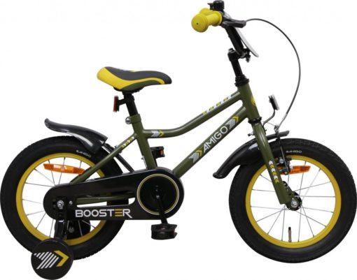 Amigo Booster - Kinderfiets - Jongens - Groen - 14 Inch