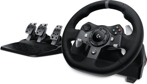 Logitech G920 Stuurwiel + pedalen PC,Xbox One Analoog/digitaal USB 2.0 Zwart